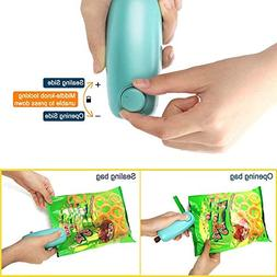 Iusun 2in 1 Mini Portable Handheld Heat Sealer for Plastic S