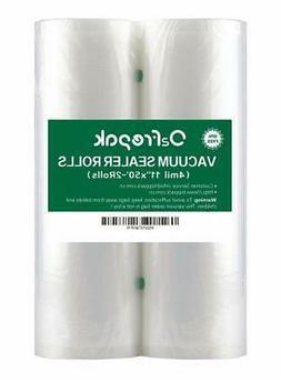 11x50 vacuum sealer bags roll 2 pack