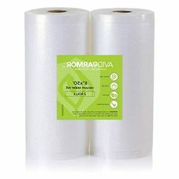 11x50 Vacuum Sealer Bags Roll. 2 Pack for Food Saver, Seal a