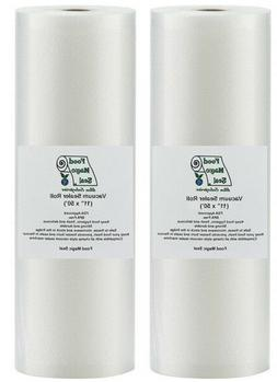 """Food Magic Seal 2-11""""x50' Rolls for Vacuum Sealer Food Stora"""