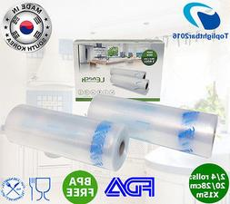 2/4 Roll Food Saver Storage Vacuum Sealers Freezer Bags Roll