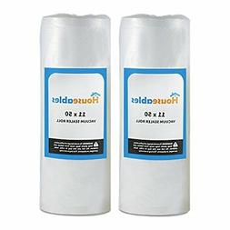 "2 Large Vacuum Sealer Rolls Unlimited 11""X50Ft Sealer Bags F"