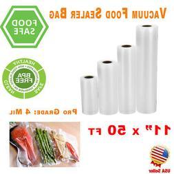 """2 Pack Vacuum Sealer Rolls 11""""x50' FoodSaver Style Food Bags"""