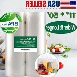 2 Roll Pack Vacuum Sealer Vac Bags 11'' X 50'  for Food Save