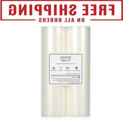 "2 Roll Pack Vacuum Sealer Vac Bags 11"" X 50' Rolls for Food"