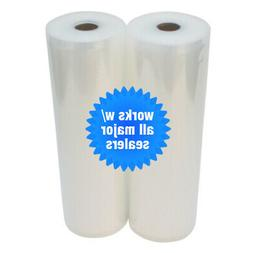 "2 ROLLS 11"" x 50' 4 mil Food & Storage Vacuum Sealer Bags! -"