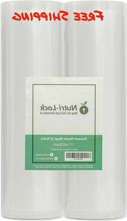 🔥 2 Rolls 11x50. Commercial Grade Food Saver Bags Rolls.