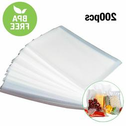 "200 Quart 8"" x 12"" Food Vacuum Sealer Bags Embossed Vac And"