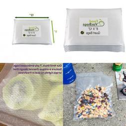 "200 Quart Size 8""X12"" FoodVacBags Vacuum Sealer Storage Bags"