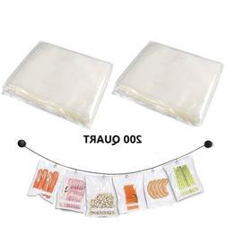 "200x 8""x12"" Quart Vacuum Sealer Bags 4mil FoodVacBags Emboss"