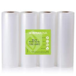 3 Roll Pack Vacuum Sealer Bags Rolls for Food Saver & Seal M