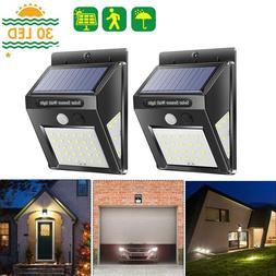 30/40LED Solar Power Light PIR Motion Sensor Garden Security