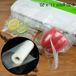4-20 Roll 11x50 Vacuum Sealer Sous Vide Bags Foodsaver Comme