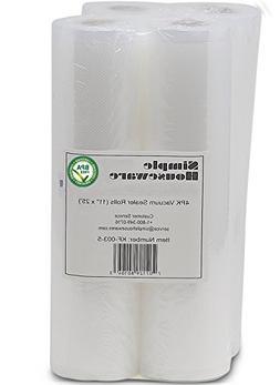 "4 Pack - SimpleHouseware 11"" x 25' Commercial Vacuum Sealer"
