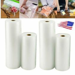 4 Rolls 8X50 &11X50 Embossed Vacuum Sealer Bags for Fresh Ke