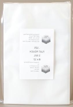 5 Mil 8x12, 125ct FLAT CHAMBER BAG Vacuum Seal Food Machines