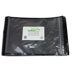 """50 FoodVacBags 11""""X16"""" Zipper Gallon Vacuum Sealer Bags-Blac"""
