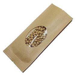 9x25+6cm  Brown Kraft Paper Grocery Bulk Food Storage Pouch
