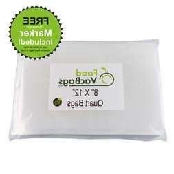 """8"""" x 12"""" Quart FoodVacBags™ Vacuum Sealer Bags for Food Sa"""