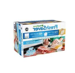 FoodSaver FreshSaver Zipper Bag Combo Pack 72 Quart-Size and
