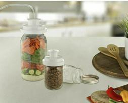 FoodSaver Wide & Regular Mason Jar Sealers w/Accessory Hose