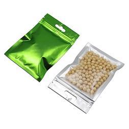 100 Pcs Clear Front Mylar Foil Heat Sealable Bags Bulk Food