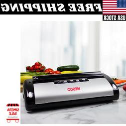 Nesco Deluxe Vacuum Sealer Easy One-Touch Operation With Aut
