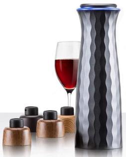 Electric Wine Saver Stopper Set: Mumba Vacuum Sealer with Ac