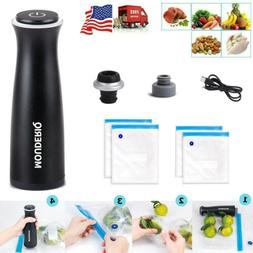 Food Vacuum Sealer Rechargeable Vacuum Pump for Food Storage