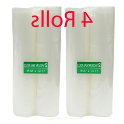 4 Rolls Commercial Grade Vacuum Sealer Bags Roll for Food Sa