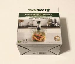 Foodsaver FRESH CONTAINERS 5 Cup 2 pc Set w/ Lids BPA Free F