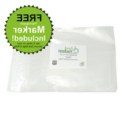 "Gallon Zipper Vacuum Sealer Bags- 11""x16"" FoodVacBags compat"