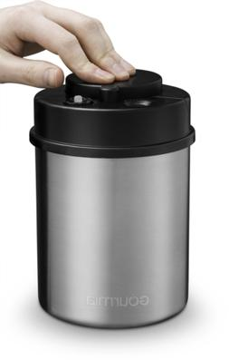 Gourmia GCC9325 Vacuum Sealed Coffee Canister – Stainless