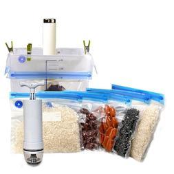 hand pump food vacuum sealer with bags