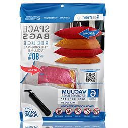 "RoomierLife Premium Jumbo Space Saver Bags 40""x30"" 6-Pack Zi"