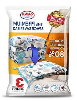 Anna Home Jumbo Vacuum Storage Bags  Space Saver Storage Bag