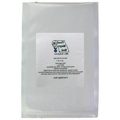"""100-4""""x6"""" Bags Food Magic Seal 4 Mil for Vacuum Sealer Food"""