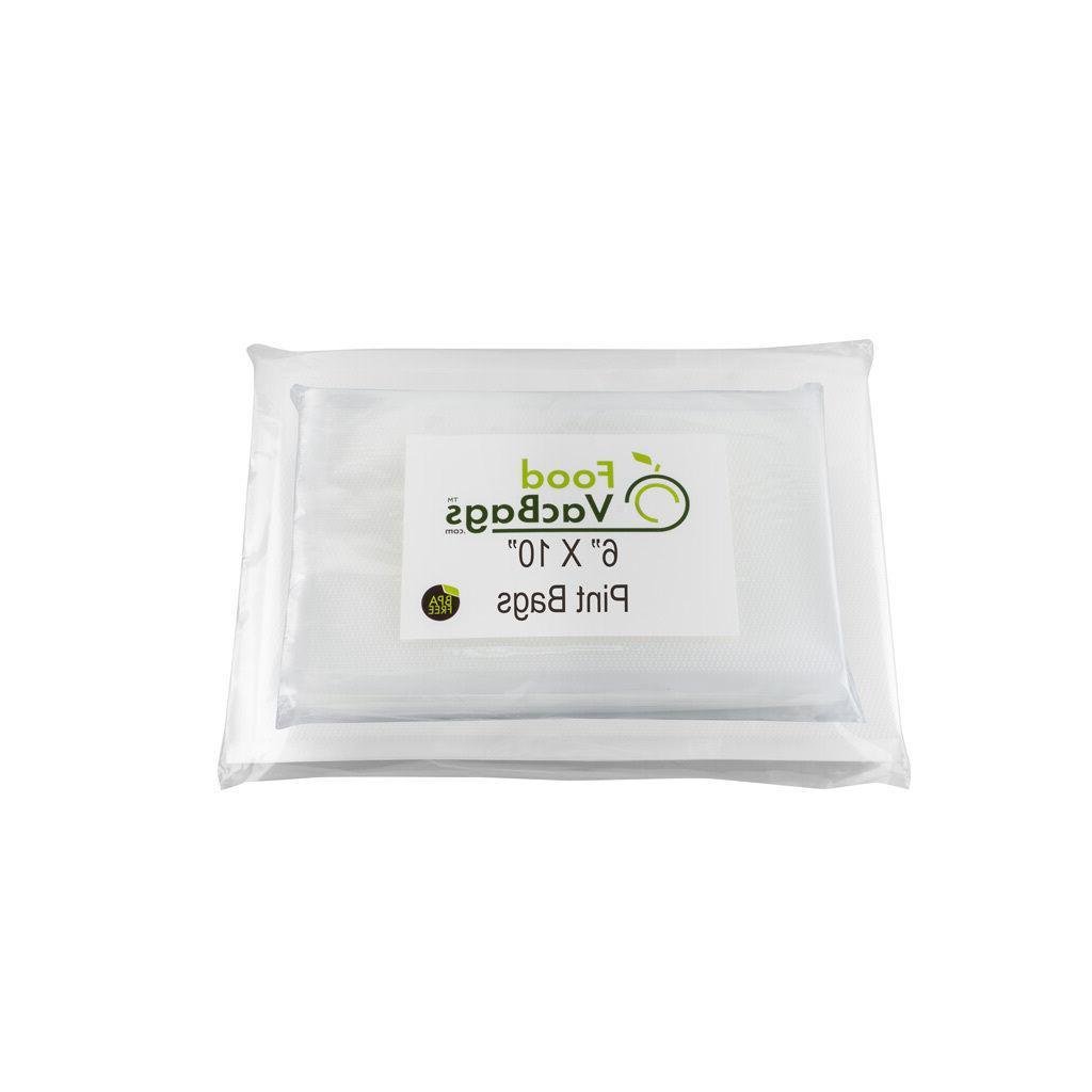 100 Bags! 50 Pint and 50 Quart FoodVacBags 4 mil for Foodsav