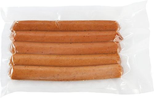 """100 Count Size 8"""" x Vacuum Sealer Bag Food Storage Saver Precut bags Foodsaver and Sous"""