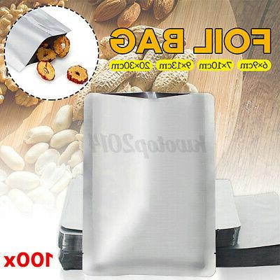 100pcs aluminum foil mylar bag heat sealer