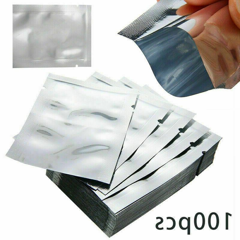 100pcs aluminum foil mylar bag vacuum bags