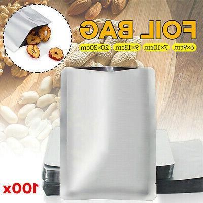 100PCS Aluminum Foil Mylar Bag Heat Sealer Food Storage Pack