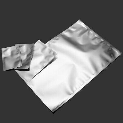 100PCS Foil Mylar Bag Storage Package Vacuum