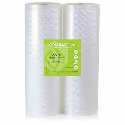11X50 Vacuum Sealer Bags Roll. 2 Pack For Food Saver Seal A