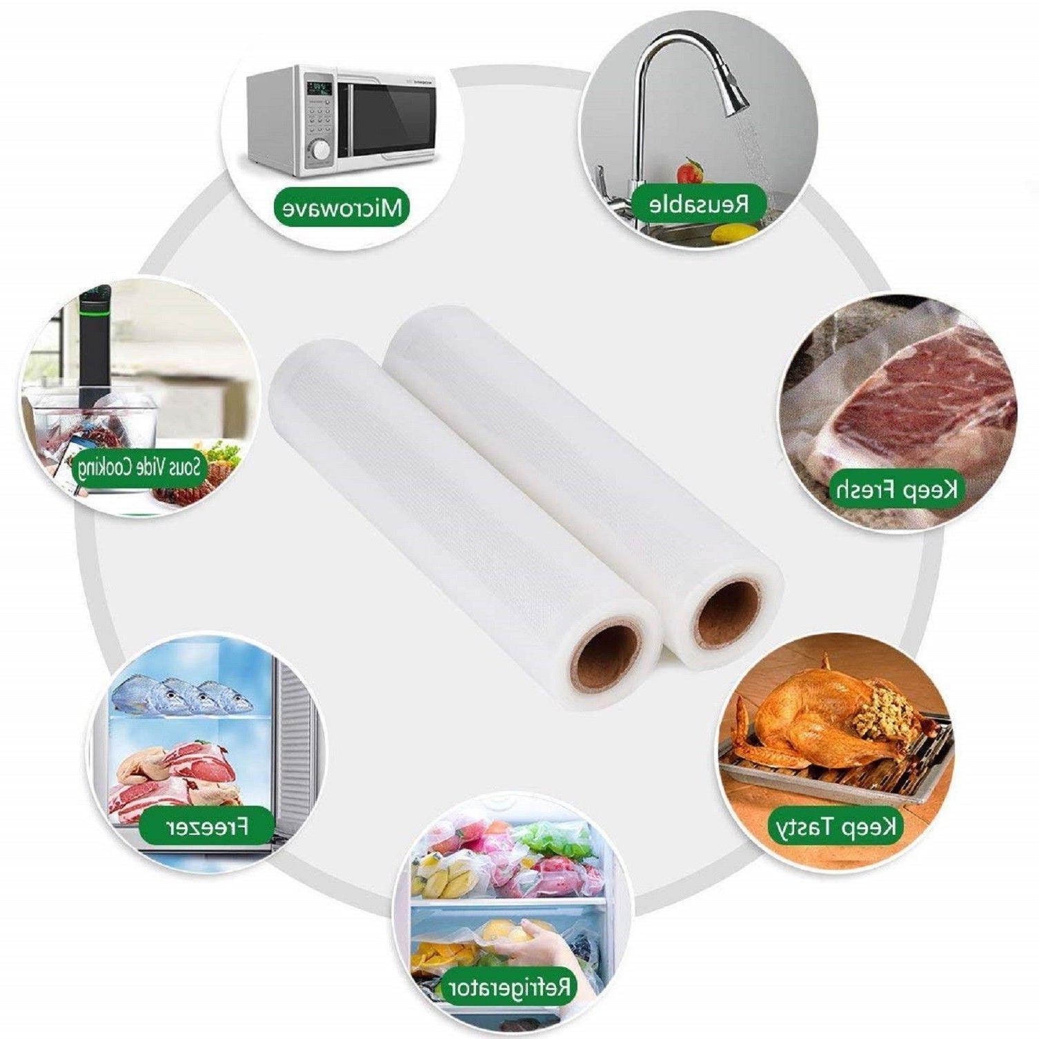 "Food Magic 2-11""x50' Rolls Vacuum Sealer Storage!! Great $$ Saver"