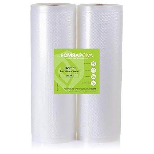 2 rolls vacuum sealer bags