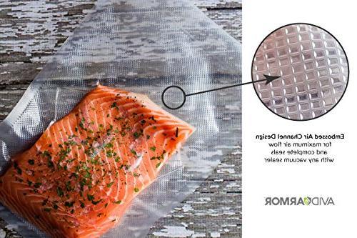 200 x Inch Sealer Food saver, Seal a Vac For Freezer Storage Sous Vaccume Cooking BPA Jumbo Bag Pack, Avid