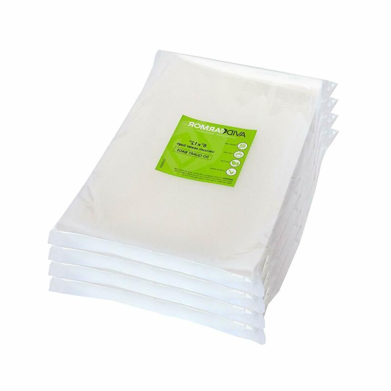 200 quart vacuum sealer storage bags size