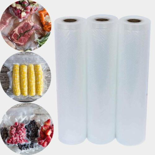3 VACUUM SEALER ROLLS Saver Storage Bag Container Vac A Meal Home