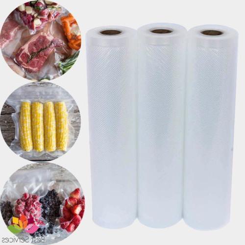 3 vacuum sealer bags rolls food saver